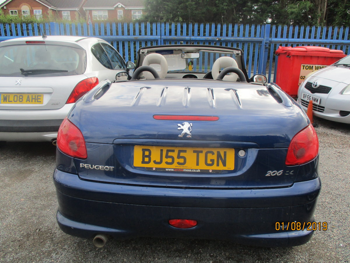 2005 CONVERTIBLE 207 in blue with creme leather trim long MOT 87K For Sale (picture 4 of 6)