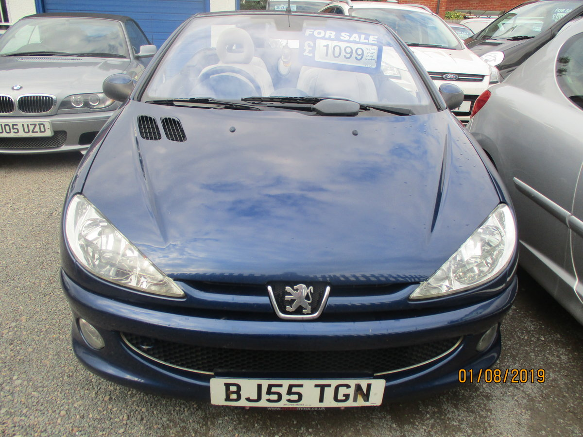 2005 CONVERTIBLE 207 in blue with creme leather trim long MOT 87K For Sale (picture 5 of 6)