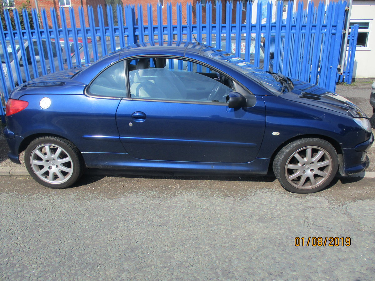 2005 CONVERTIBLE 207 in blue with creme leather trim long MOT 87K For Sale (picture 6 of 6)