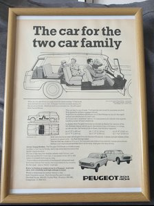 1970 Original Peugeot 404L Estate advert