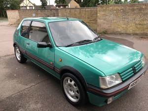 1991 PEUGEOT 205 1.9 GTI / LAZER GREEN For Sale