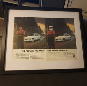 1994 Original Peugeot 106 Rallye Advert