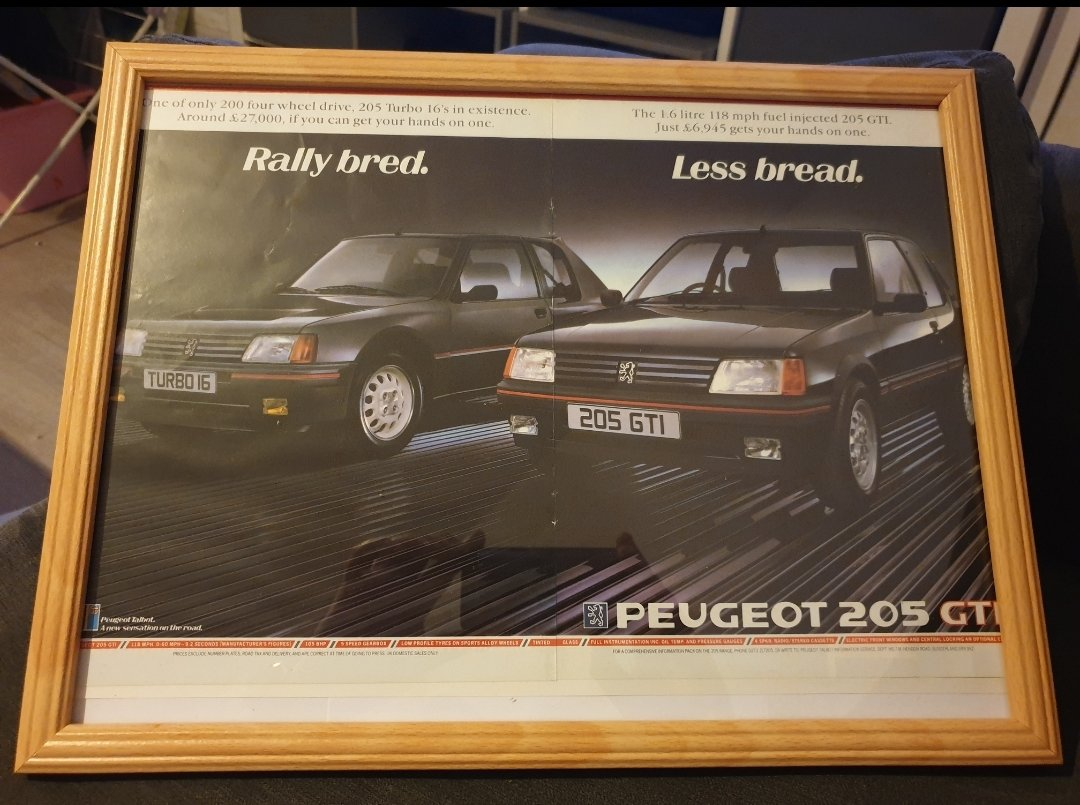 1985 Peugeot 205 Advert Original  For Sale (picture 1 of 2)