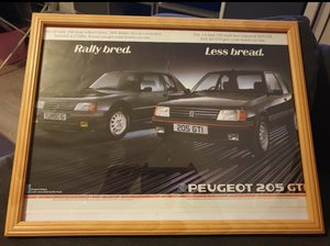 1985 Peugeot 205 Advert Original
