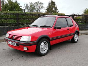 1991 Peugeot 205 GTI 1.6 for auction 25/10