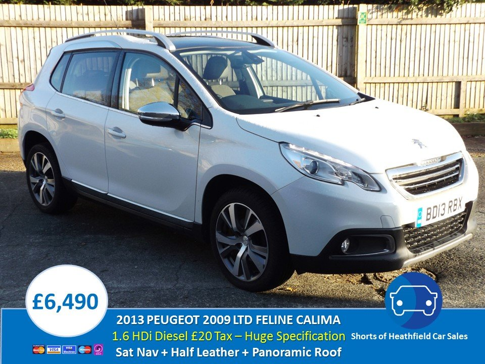 2013 Peugeot 2008 Crossover 1.6e-HDi Ltd Feline Calima Ambie For Sale (picture 1 of 1)