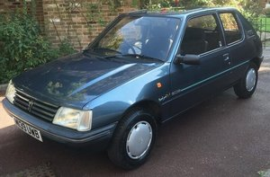1994 Peugeot 205 Mardi Gras with only 26,400 miles For Sale by Auction