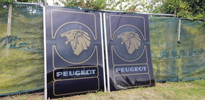Peugeot main dealer signs late 60s early 70s