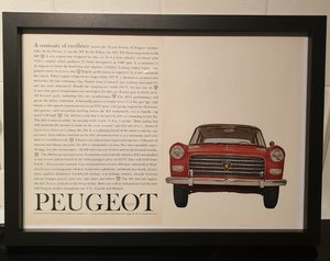 Original Peugeot 404 Framed Advert