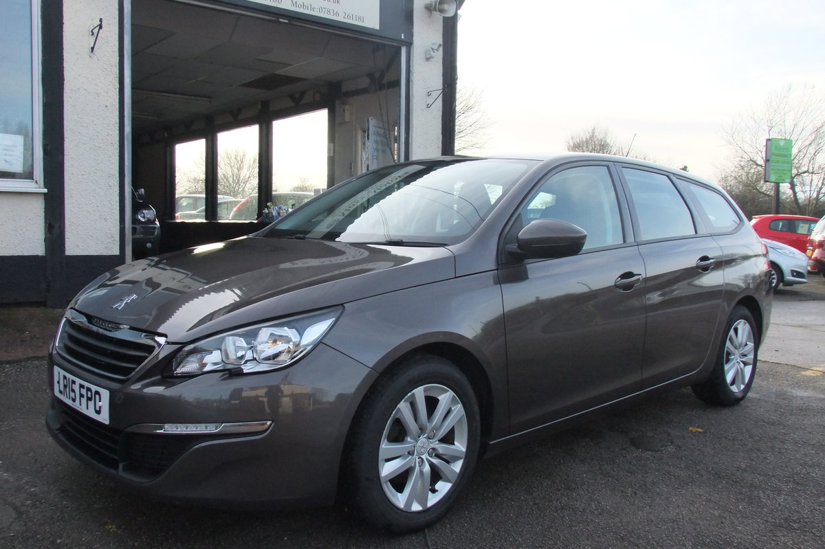2015 PEUGEOT 308 1.6 HDI S/S SW ACTIVE 5DR SOLD (picture 1 of 6)