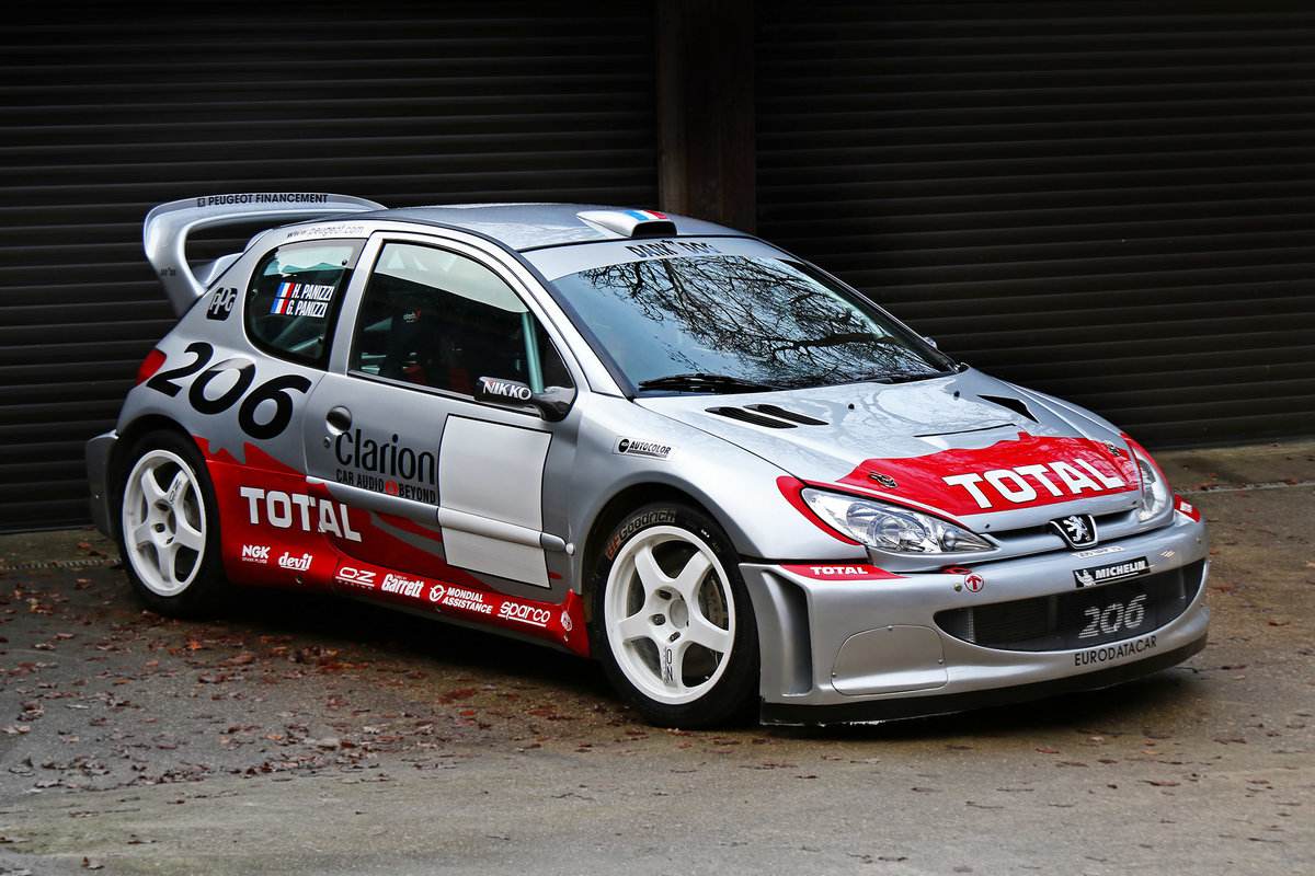 2002 Peugeot 206 WRC Ex Timo Salonen, Ari Vatanen, Gilles Panizzi For Sale (picture 1 of 6)
