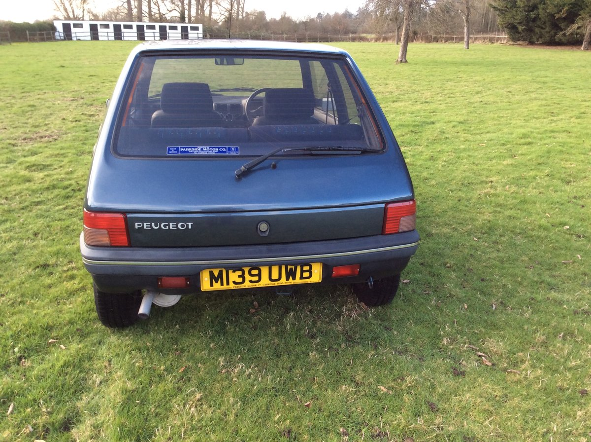 1994 PEUGEOT 205 1.6 MARDI GRAS AUTOMATIC BLUE For Sale (picture 4 of 6)