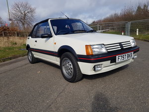 1989 Peugeot 205 1.6 CTI Cabriolet - 2 Owners For Sale