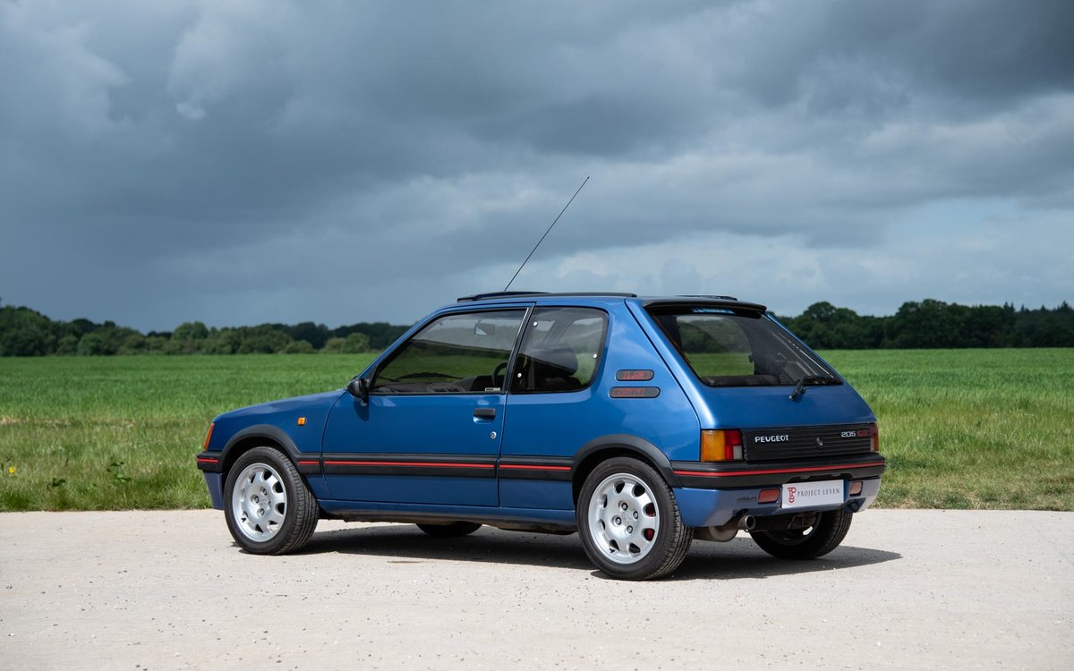 1990 Peugeot 205 GTI 1.9 - 1 of 300 Miami Blue Ltd Ed. For Sale (picture 2 of 6)