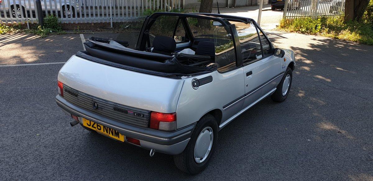 1991 Peugeot 205 Cj Junior 1.4L Cabrio For Sale (picture 1 of 6)