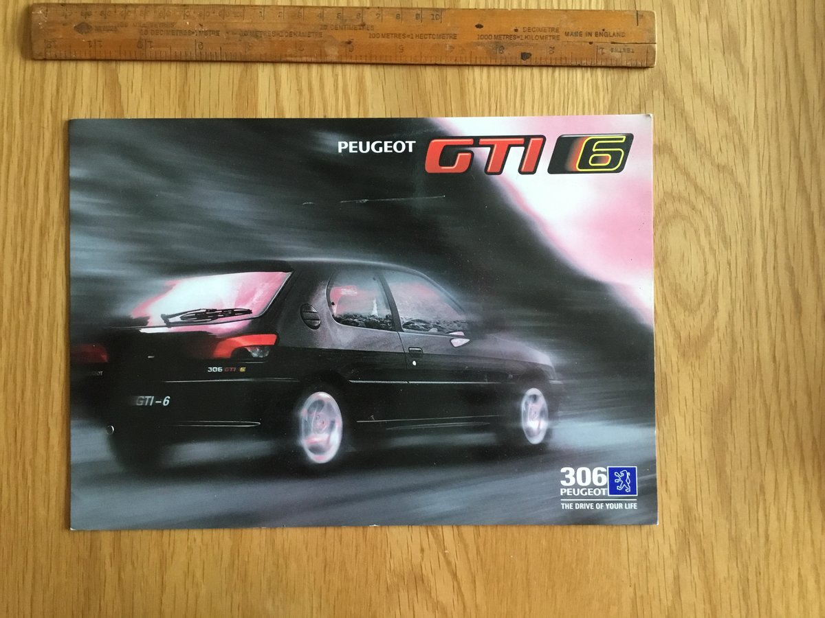 1996 Peugeot 306 GTi 6 brochure For Sale (picture 1 of 1)