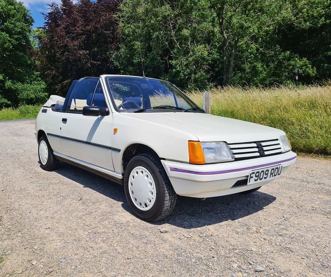 1988 Peugeot 205 1.4 CJ Convertible For Sale (picture 1 of 5)