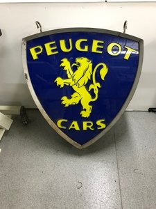 Peugeot Lightbox Sign