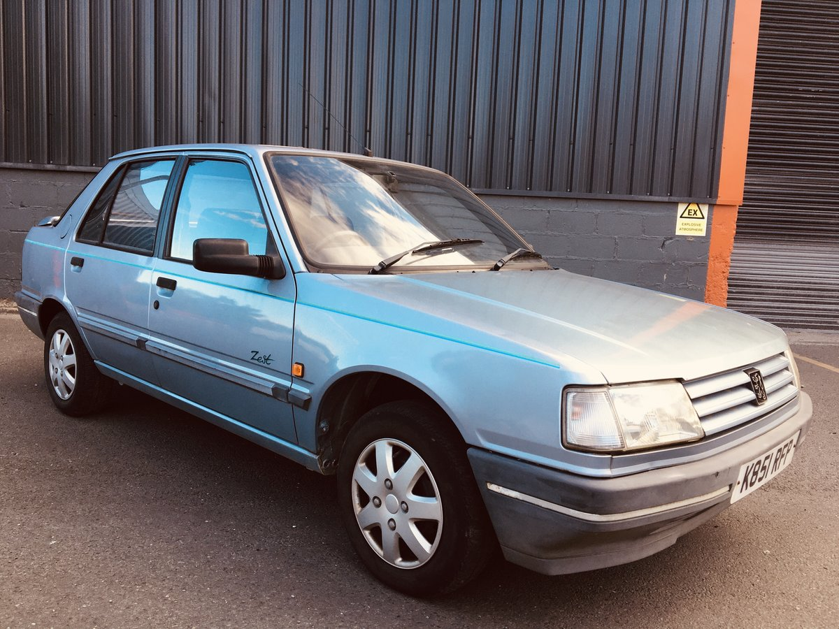 1992 PEUGEOT 309 1.9D STYLE 17,000 GENUINE MILEAGE For Sale (picture 1 of 6)