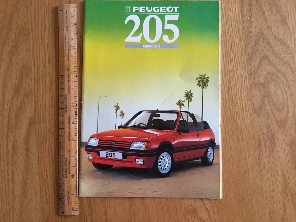1988 Peugeot 205 CTI cabriolet brochure For Sale (picture 1 of 1)