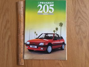 1988 Peugeot 205 CTI cabriolet brochure For Sale