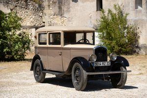 1930 Peugeot 201 berline 6CV No reserve For Sale by Auction