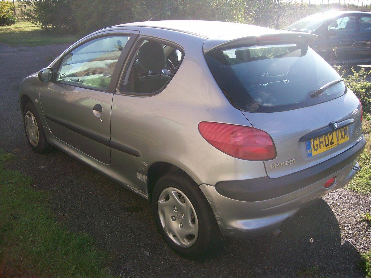 Peugeot 206 LX 1.4 Grey 2002 Reg 3 door spares breaking For Sale (picture 3 of 6)