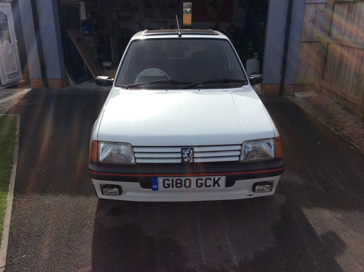 1989 Exceptionally Restored Peugeot 205 1.9 GTI For Sale (picture 1 of 6)