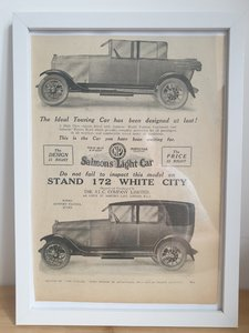 Picture of 1981 Original 1922 Salmons Light Car Framed Advert