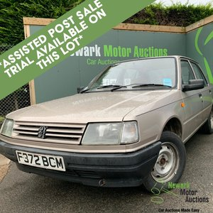 1989 Peugeot 309 1st October Auction entry - physical sale!