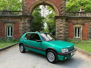Rare laser green limited colour 205 gti original