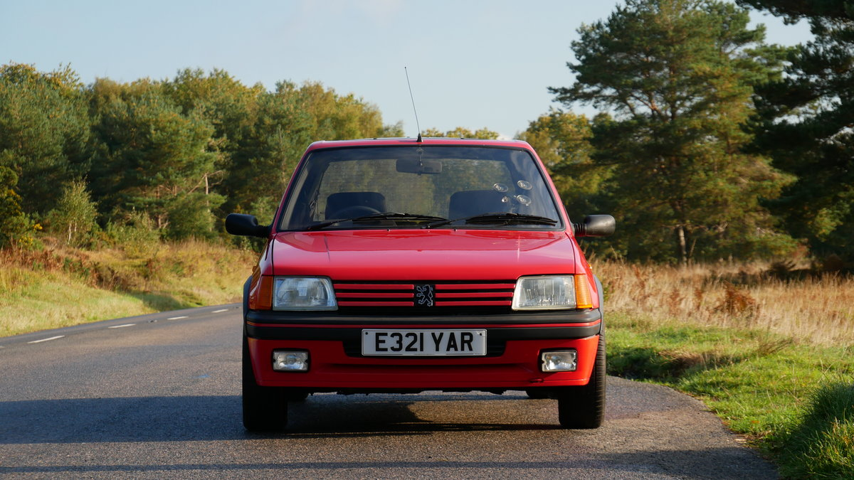 1987 205 GTI 1.6 Cherry Red Stunning For Sale (picture 1 of 6)