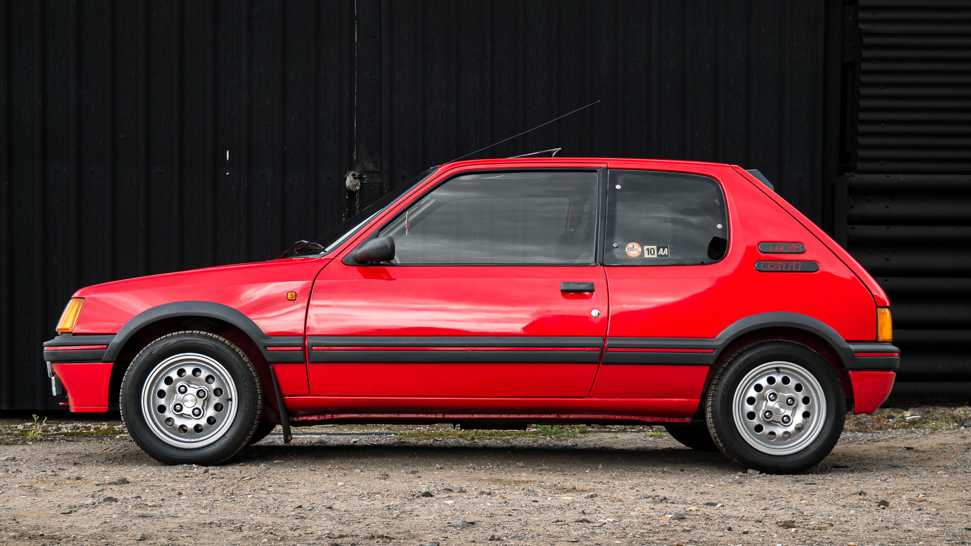 1987 205 GTI 1.6 Cherry Red Stunning For Sale (picture 2 of 6)