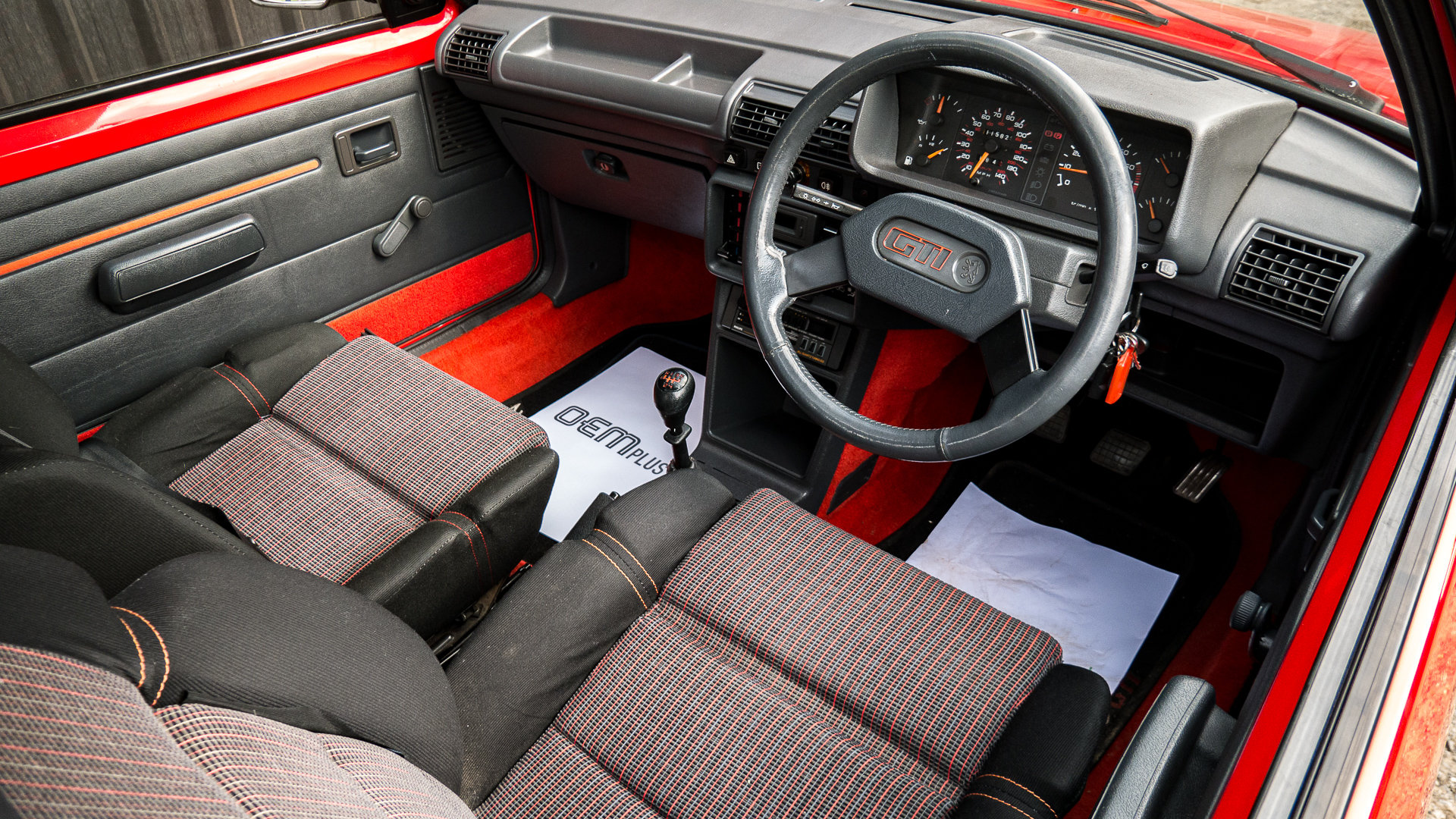 1987 205 GTI 1.6 Cherry Red Stunning For Sale (picture 5 of 6)