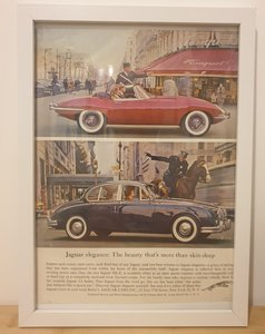 Picture of 1979 Original 1962 Jaguar Framed Advert