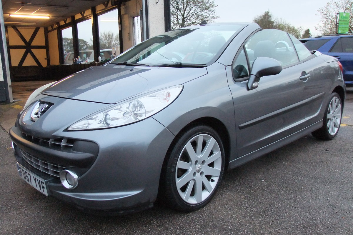 2008 PEUGEOT 207 1.6 GT COUPE CABRIOLET 2DR For Sale (picture 1 of 6)