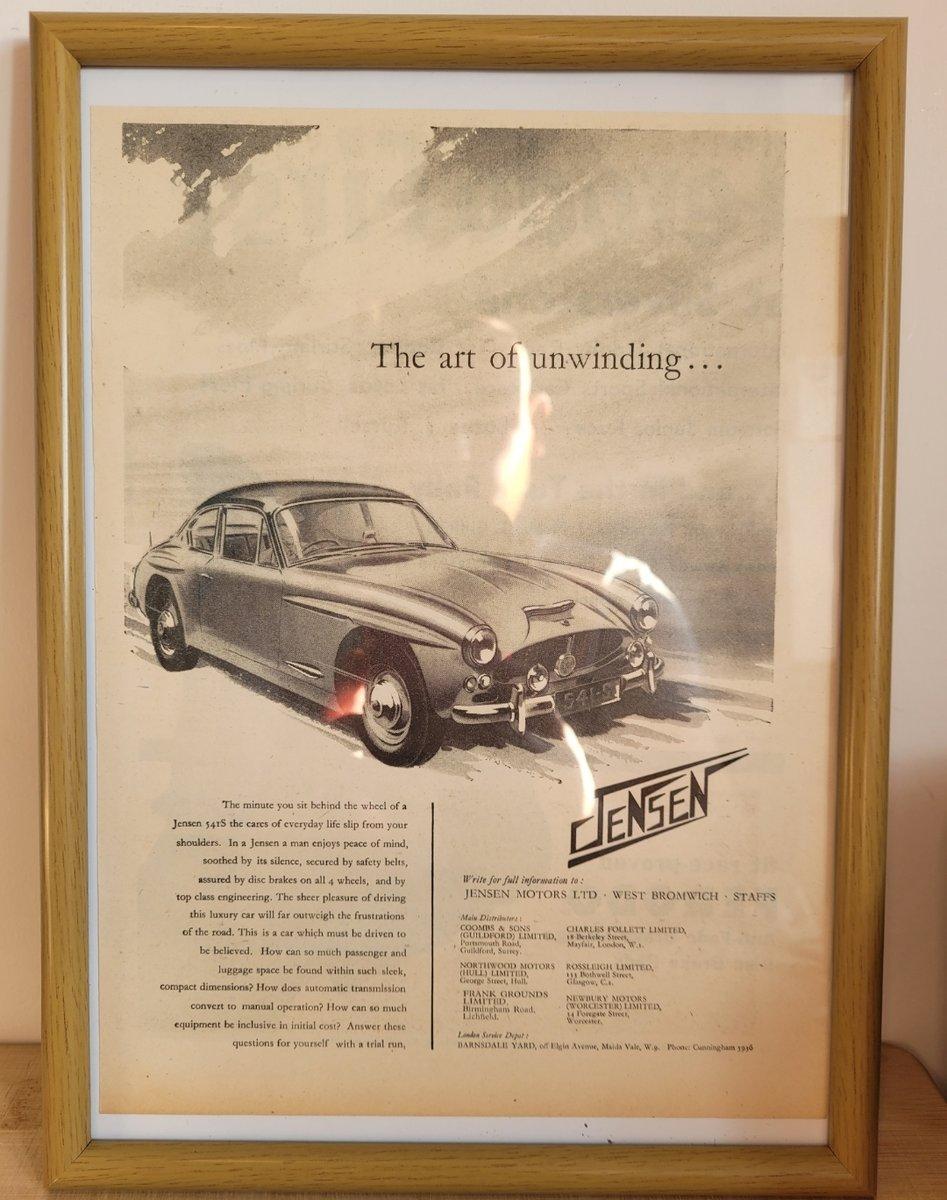 Original 1961 Jensen 541 S Framed Advert For Sale (picture 1 of 3)