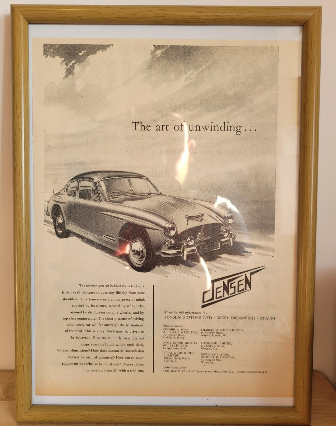 Picture of  Original 1961 Jensen 541 S Framed Advert