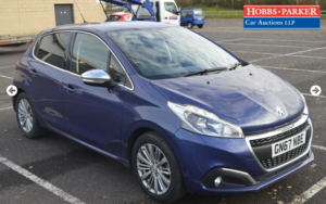 2017 Peugeot 208 Allure 16,709 miles for auction 25th