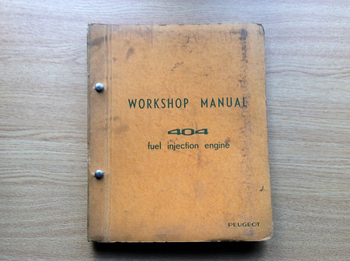 Workshop Manual 404 - fuel injection engine For Sale (picture 1 of 5)