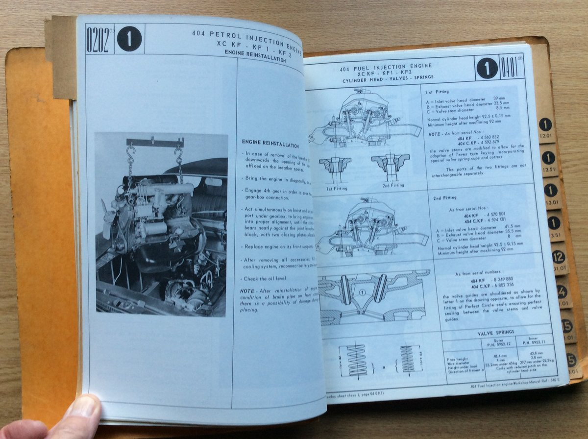 Workshop Manual 404 - fuel injection engine For Sale (picture 2 of 5)