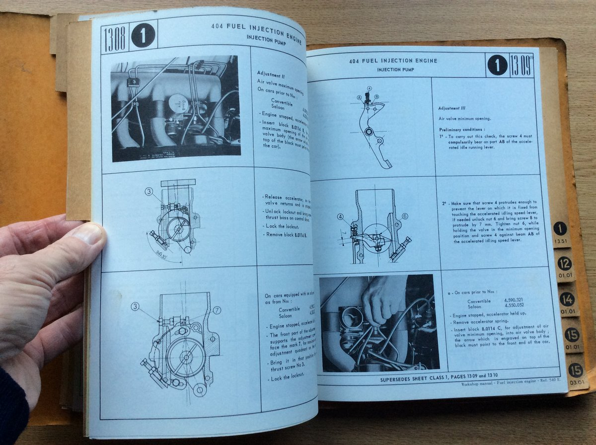 Workshop Manual 404 - fuel injection engine For Sale (picture 4 of 5)
