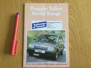 Picture of 1983 Peugeot brochure For Sale