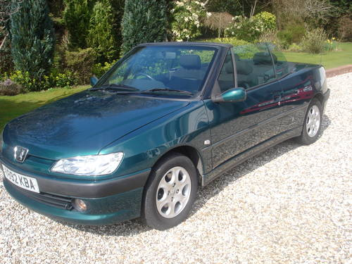 2000 Peugeot 306 Cabriolet For Sale (picture 1 of 6)