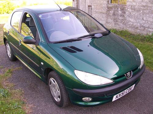 2001 Peugeot 206 GLX 1.6 New MOT 59659 miles For Sale (picture 1 of 6)