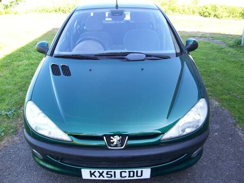 2001 Peugeot 206 GLX 1.6 New MOT 59659 miles For Sale (picture 2 of 6)