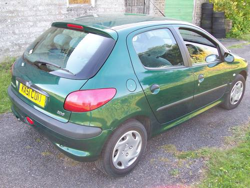2001 Peugeot 206 GLX 1.6 New MOT 59659 miles For Sale (picture 3 of 6)