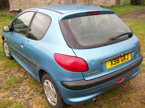 2000 Peugeot 206 GLX 1.4 64000 miles For Sale (picture 2 of 6)