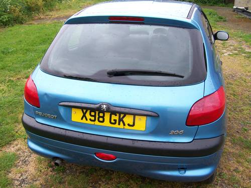 2000 Peugeot 206 GLX 1.4 64000 miles For Sale (picture 3 of 6)