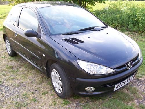 Peugeot 206 Fever 1.4 Black 2004 New MOT For Sale (picture 1 of 6)